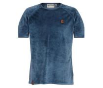 T-Shirt 'koks & bitches II' taubenblau