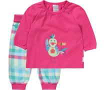 Baby Schlafanzug türkis / pink