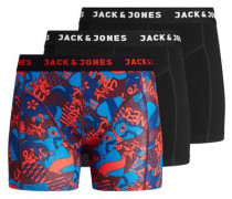 Bunte Boxershorts blau / rot / schwarz