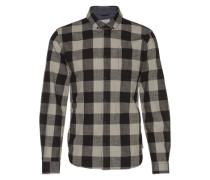 'Checked Shirt L/s' Hemd schwarz / weiß
