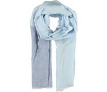 Leinen-Viskose Schal blau