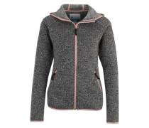 Sportfleece-Jacke 'Chillin Fleece' grau / graphit