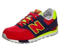 Kl574-Wig-M Sneaker Kinder marine / neongelb / rot