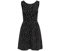 Bedrucktes Kleid ohne Ärmel schwarz / weiß
