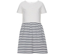 Kleid mit kurzen Ärmeln 'Fanny' ultramarinblau / weiß