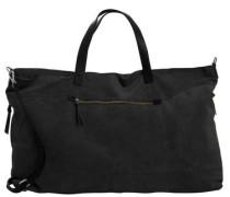 Wildleder-Reisetasche schwarz