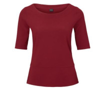 T-Shirt mit Struktur-Muster rot