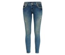 Jeans im Used-Look 'piera' blue denim