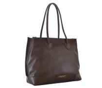 Passpartout Shopper Tasche Leder 45 cm braun