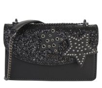 Crossbody Bag mit Nieten 'Fall in Love' schwarz
