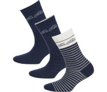 3 Paar Socken marine