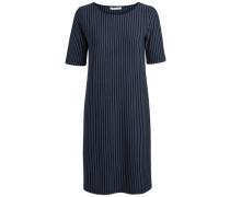 Gemustertes Kleid blau / weiß