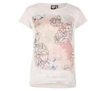 Shirt mit Frontprint rosé / weiß