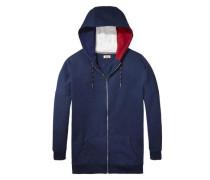 Hilfiger Denim Sweatshirt »Thdw HD ZIP Hknit L/S 17« dunkelblau / rot / weiß