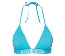 Bikinitop mit Logo-Bund türkis