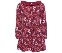Kleid mit langen Ärmeln Blumenprint- blau / rosé / weiß