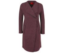 Leichter Mantel aus Wollfleece rotviolett