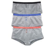 Panty (3 Stück) blau / grau / koralle / schwarz