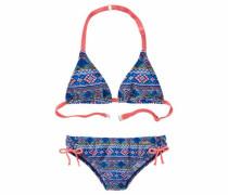 Triangel-Bikini blau / koralle / rosa