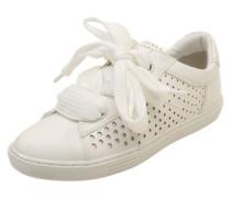 Sneaker in Lack-Optik weiß