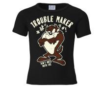T-Shirt 'Tasmanischer Teufel Taz - Looney Tunes' schwarz