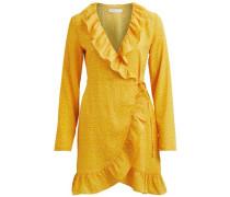 Kleid Gepunktetes Wickel gold