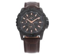Armbanduhr dunkelbraun / bronze