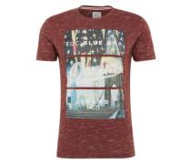 Shirt 'flag city tee' mischfarben / bordeaux
