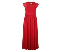 Abendkleid mit Raffung rot