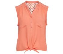 Detailliertes Hemd ohne Ärmel orange