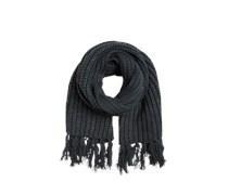 Schal mit Fransen grau / silber