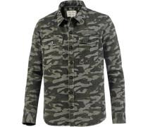 Langarmhemd khaki / hellgrün