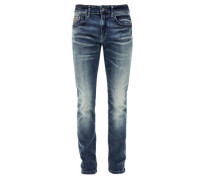 Stick Skinny: Jeans mit Waschung blue denim