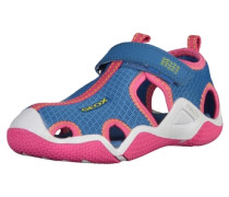 Sandalen blau / pink