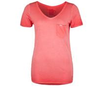T-Shirt mit dezentem Paillettenband rot