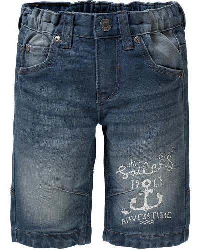 Jeansshorts dunkelblau / weiß