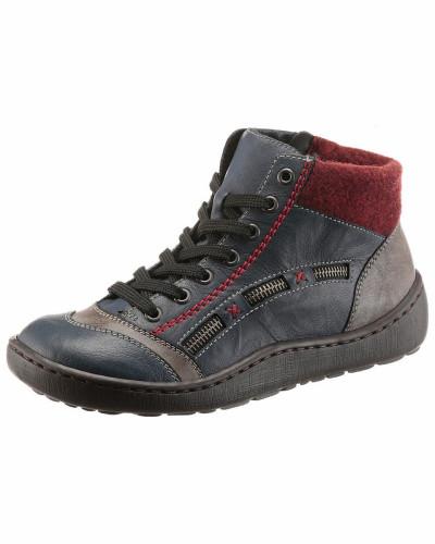 Rieker Damen Stiefeletten blau / taupe / rot Freies Verschiffen Neue Stile ax2XEiP