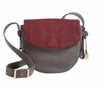 Umhängetasche »Lobelle Saddle Bag« grau / weinrot