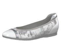 Klassische Ballerinas silber / weiß