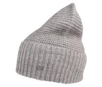 Beanie-Mütze 'CasKnit' grau