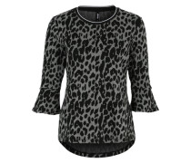 'Marella' Shirt grau / schwarz