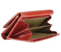Passpartout Donna Geldbörse Leder 15 cm rostrot