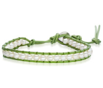 Armband grün / weiß