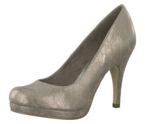 High Heel Pumps mit Plateau taupe