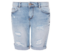 Smart Short: Destroyed Denim blau