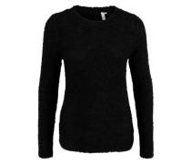 Pullover aus Bouclé-Strick schwarz