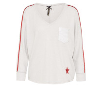 Pullover 'wls' rot / offwhite