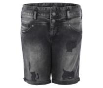Stretchige Shorts 'Raya' black denim