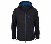 Softshelljacke »Hooded Windtrekker« blau / schwarz