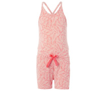 Jumpsuit mit Federprint 'Joy' pink